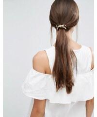 Orelia - Taupe - Élastique à cheveux avec nœud - Marron