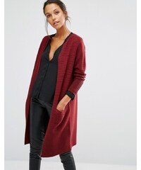 Selected - Laua - Cardigan en maille à manches longues - Rouge