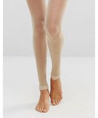 Gipsy - Collants sans pieds pailletés, motif chevrons - Doré