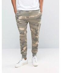Pull&Bear - Pantalon de survêtement en camouflage sable - Beige