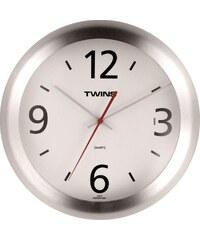 Nástěnné hodiny Twins 1012 white 27cm