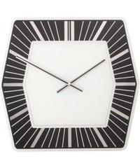 NeXtime Designové nástěnné hodiny 8128zw Nextime Hexagon black 43cm