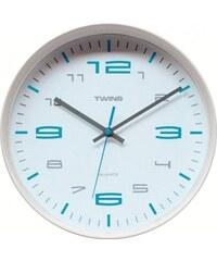 Twins Nástěnné hodiny Twins 10512 white 30cm