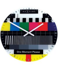 NeXtime Designové nástěnné hodiny 8802 Nextime Small Testpage 30cm
