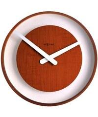 NeXtime Designové nástěnné hodiny 3046br Nextime Wood Loop 30cm