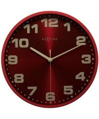 NeXtime Designové nástěnné hodiny 3053ro Nextime Dash red 35cm