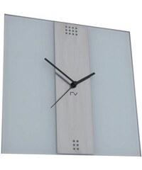 RV ART Designové nástěnné hodiny RV ART SNT white 35cm
