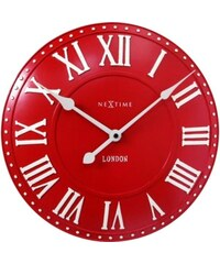 NeXtime Designové nástěnné hodiny 3083ro Nextime v aglickém retro stylu 35cm