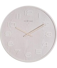 NeXtime Designové nástěnné hodiny 3095wi Nextime Wood Wood Big 53cm
