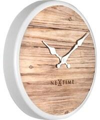 NeXtime Designové nástěnné hodiny 3133wi Nextime Plank 30cm