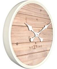 NeXtime Designové nástěnné hodiny 3134wi Nextime Plank 50cm