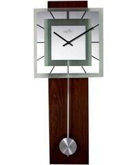 NeXtime Designové nástěnné hodiny řízené signálem DCF 3144 Nextime Retro Pendulum Square 80 cm