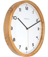 NeXtime Designové nástěnné hodiny 3154 Nextime Company Wood 35cm