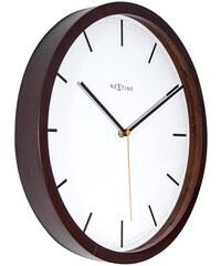 NeXtime Designové nástěnné hodiny 3156br Nextime Company Wood 35cm