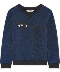 Little Eleven Paris Sweatshirt mit Lurex-Stickerei