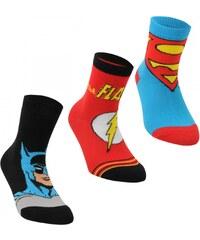 DC Comics Superman 3 Pack Crew Socks Childs, multi