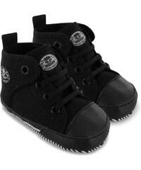 Dunlop Canvas High Crib Shoes, black/black