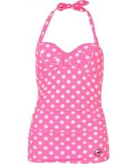 Hot Tuna Tuna Tankini Top Ladies, pink polka dot