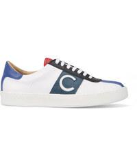 Carven Weiß-marineblaue Ledersneaker C