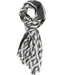 IKKS Graues Halstuch aus Wolle mit weißem Muster