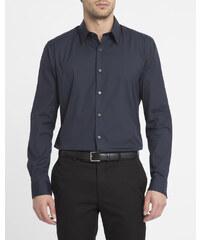 THEORY Marineblaues Slimfit-Hemd aus Stretch-Popeline Sylvain