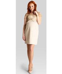 Happymum Zlaté těhotenské šaty Glossy