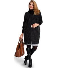 Happymum Černo-šedý těhotenský kabát Baggy