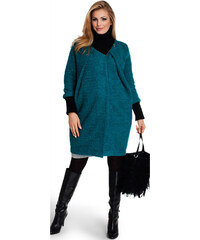 Happymum Modro-zelený těhotenský kabát Baggy