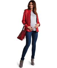 Happymum Červená těhotenská bunda Stella