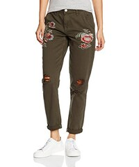 New Look Damen Hose Embroidered