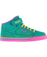Lonsdale Canons Childrens Hi Top Trainers Teal/Pink