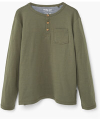 MANGO KIDS T-Shirt Coton Col Tunisien