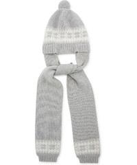 Bonnet tricot gris