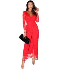 Plesové a společenské krajkové šaty Zn. Ly xx 2537 červená