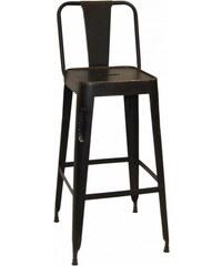Industrial style, Barová stolička - čierna 105 x36 x36 /77 cm (294)