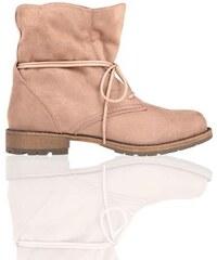 Boots fourrées façon cuir suédé Marron Synthetique (polyurethane) - Femme Taille 36 - Cache Cache