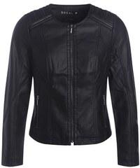 Veste faux cuir zips fantaisie épaules Noir Synthetique (polyurethane) - Femme Taille 38 - Bréal