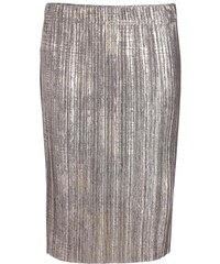 Jupe plissée enduite Rouge Polyester - Femme Taille 36 - Cache Cache
