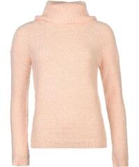 Mystify Luxe Knitted Polo Neck Jumper dámské Blush