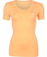 Triko Nike Pro SS VNeck Lds64 Orange