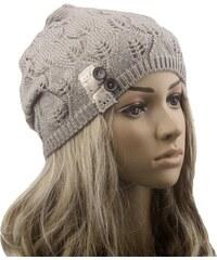 Cixi Dámská pletená čepice šedá