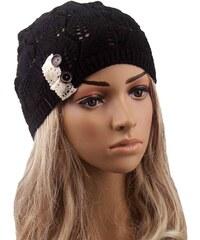 Cixi Dámská pletená čepice černá