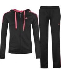 Adidas 3 Stripe Tracksuit Ladies, black/pink