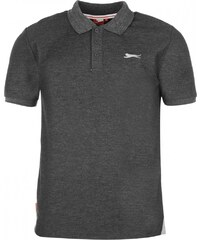 Slazenger Plain Polo Shirt Mens, charcoal marl