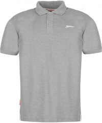 Slazenger Plain Polo Shirt Mens, grey marl