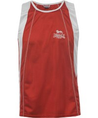 Lonsdale Perforated Sleeveless T Shirt Unisex Adults, red/white