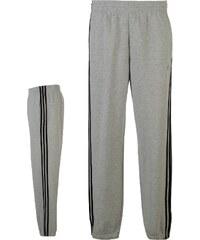 Adidas 3 Stripe Fleece Pants Mens, medgrey/black