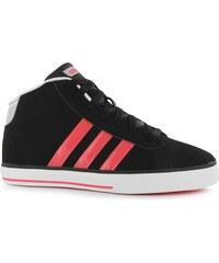 Adidas Neo Daily Mid Top Junior Girls Trainers, black/redzest
