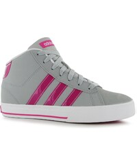 Adidas Neo Daily Mid Top Junior Girls Trainers, ltonix/pink