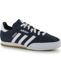Adidas Samba Suede Junior Indoor Football Trainers, blue/white